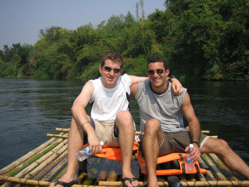 Bamboo Rafting on the River Kwai